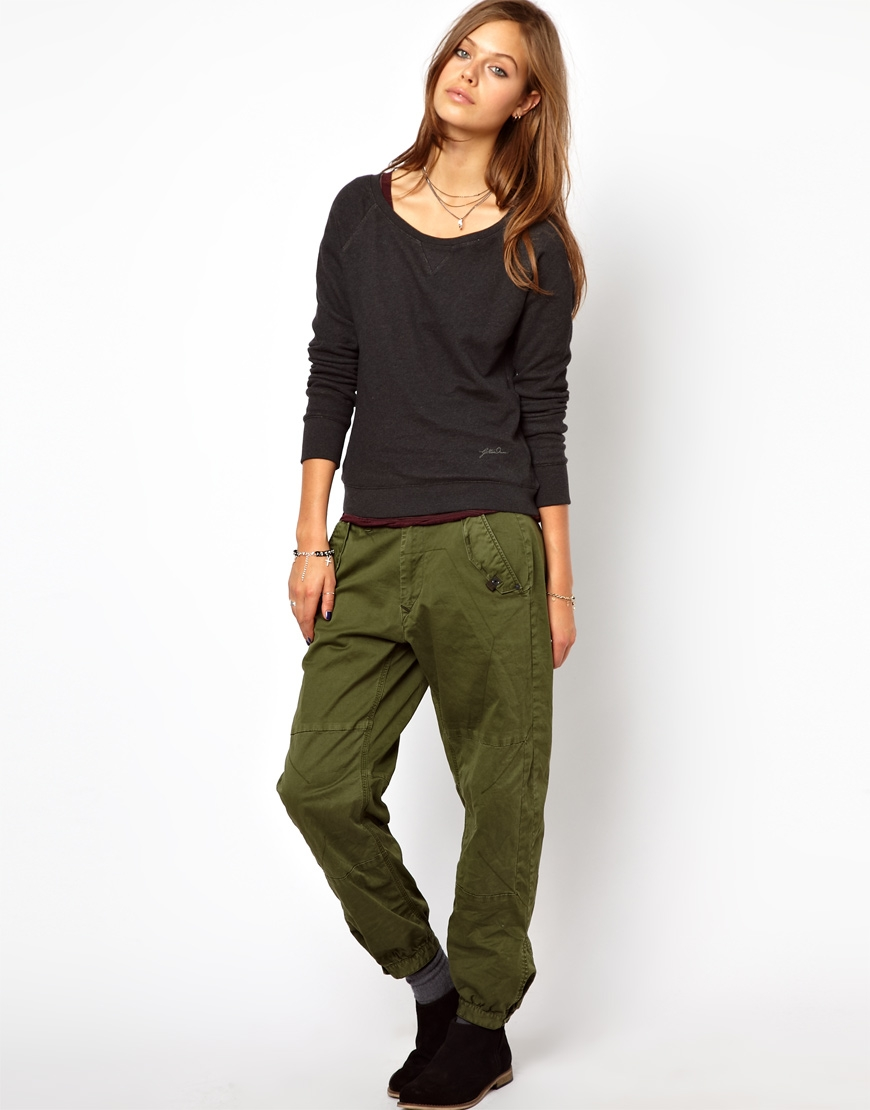 Beautiful WOMENS SKINNY FIT LADIES KHAKI GREEN COTTON PANTS JEANS STYLE TROUSERS