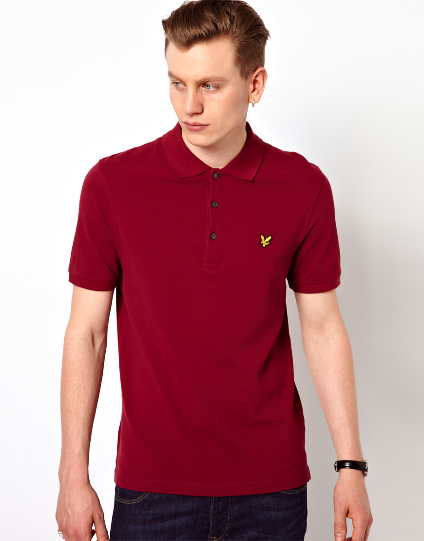 251d48560 ASOS Lyle Scott Vintage Polo Shirt with Eagle Logo in Red for Men - Lyst