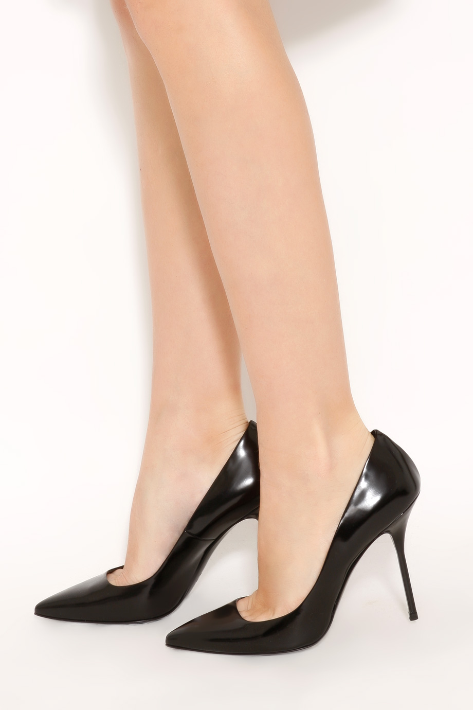 6866316102f Lyst - Pierre Hardy Shiny Calf Pointed High Heels in Black