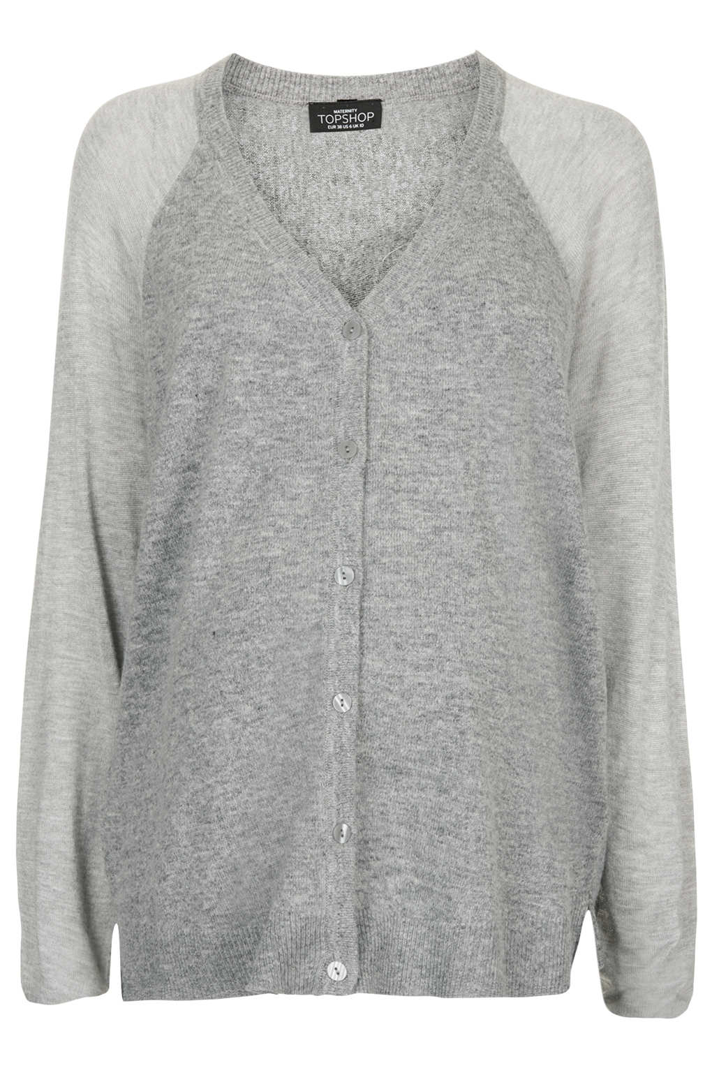 Topshop Maternity Sheer Solid Cardigan in Gray | Lyst