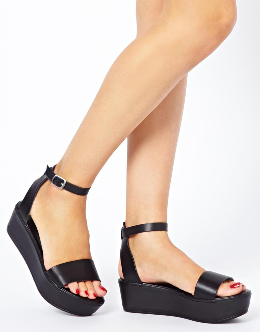 70532ce144bc Lyst - ASOS Asos Jump Flatform Sandals in Black