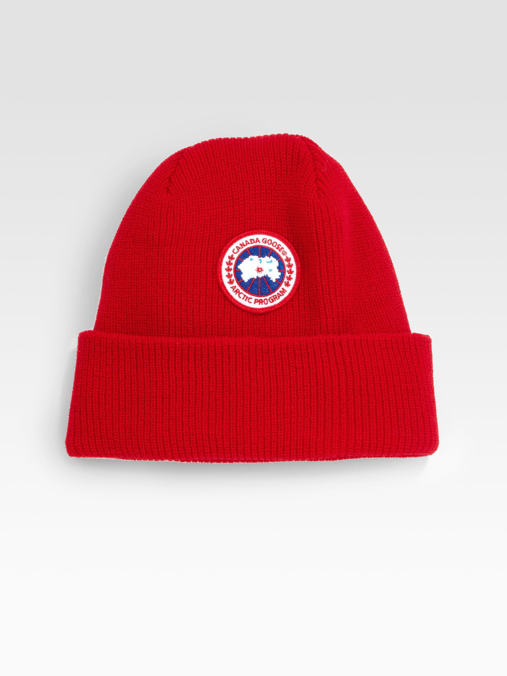 192a502ce76 Lyst - Canada Goose Merino Wool Watch Cap in Red