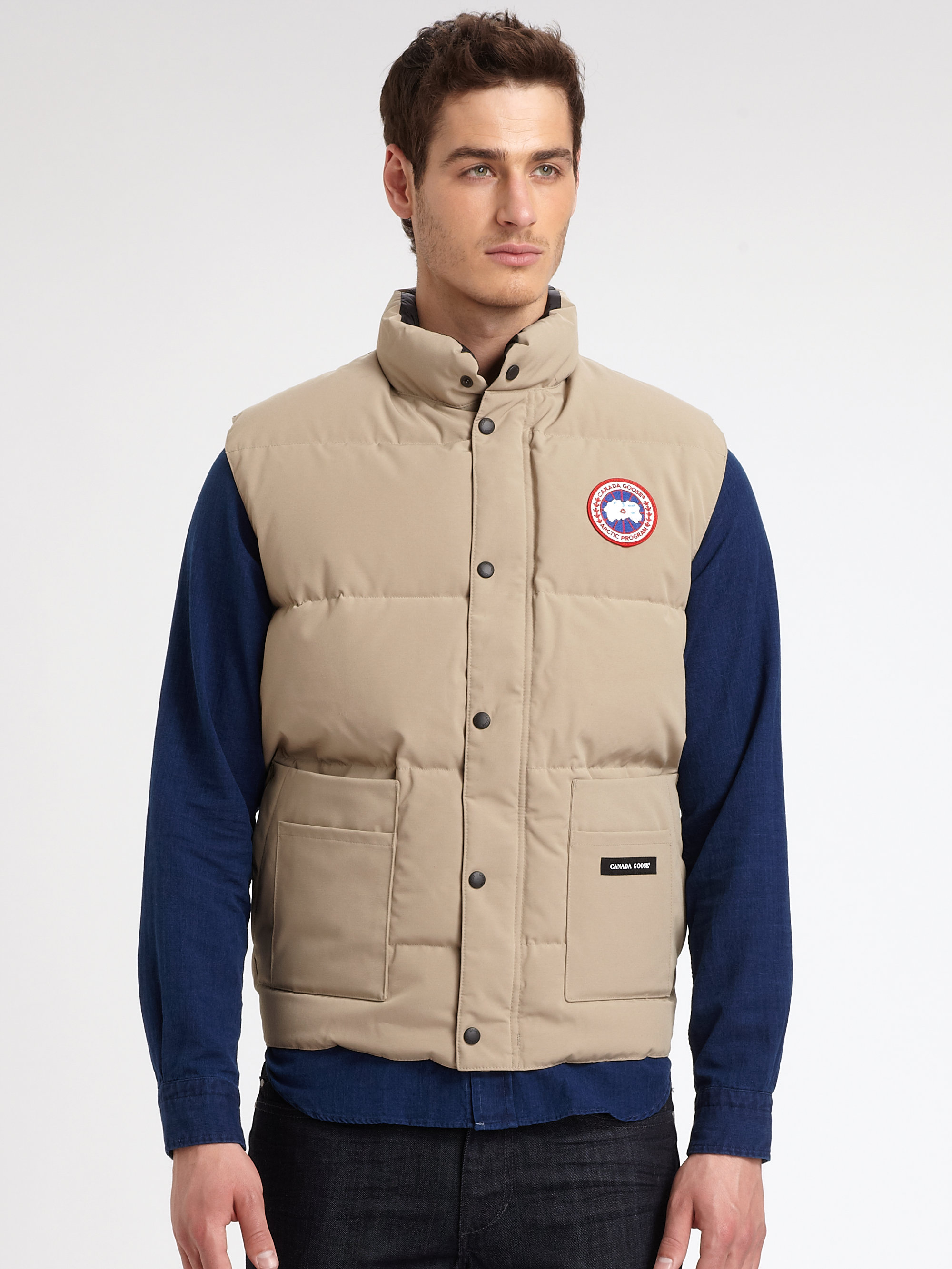 Canada Goose Freestyle Vest In Beige For Men Tan Lyst