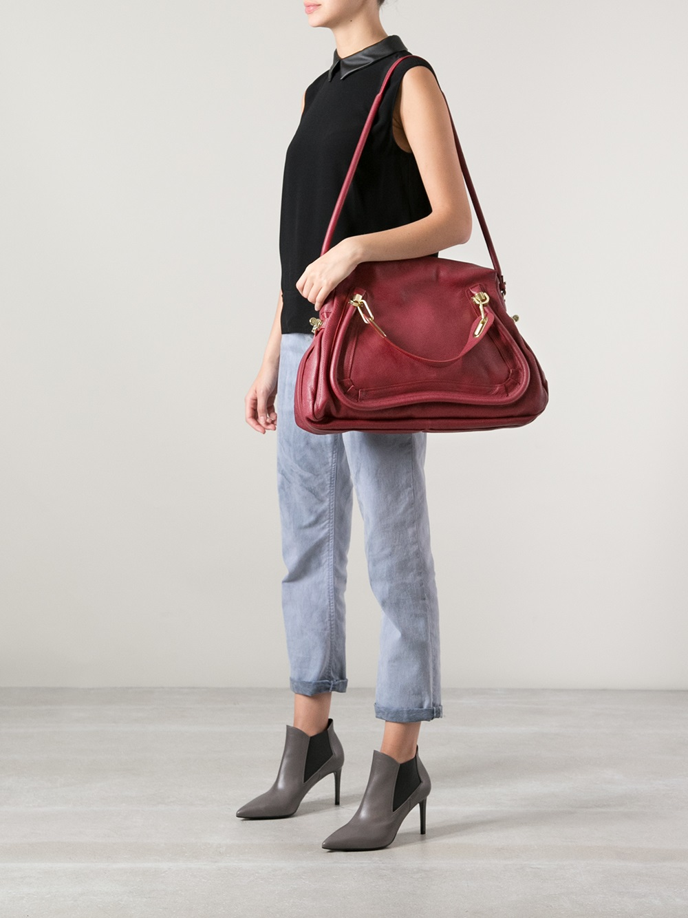 Chlo¨¦ Large Paraty Tote in Red | Lyst