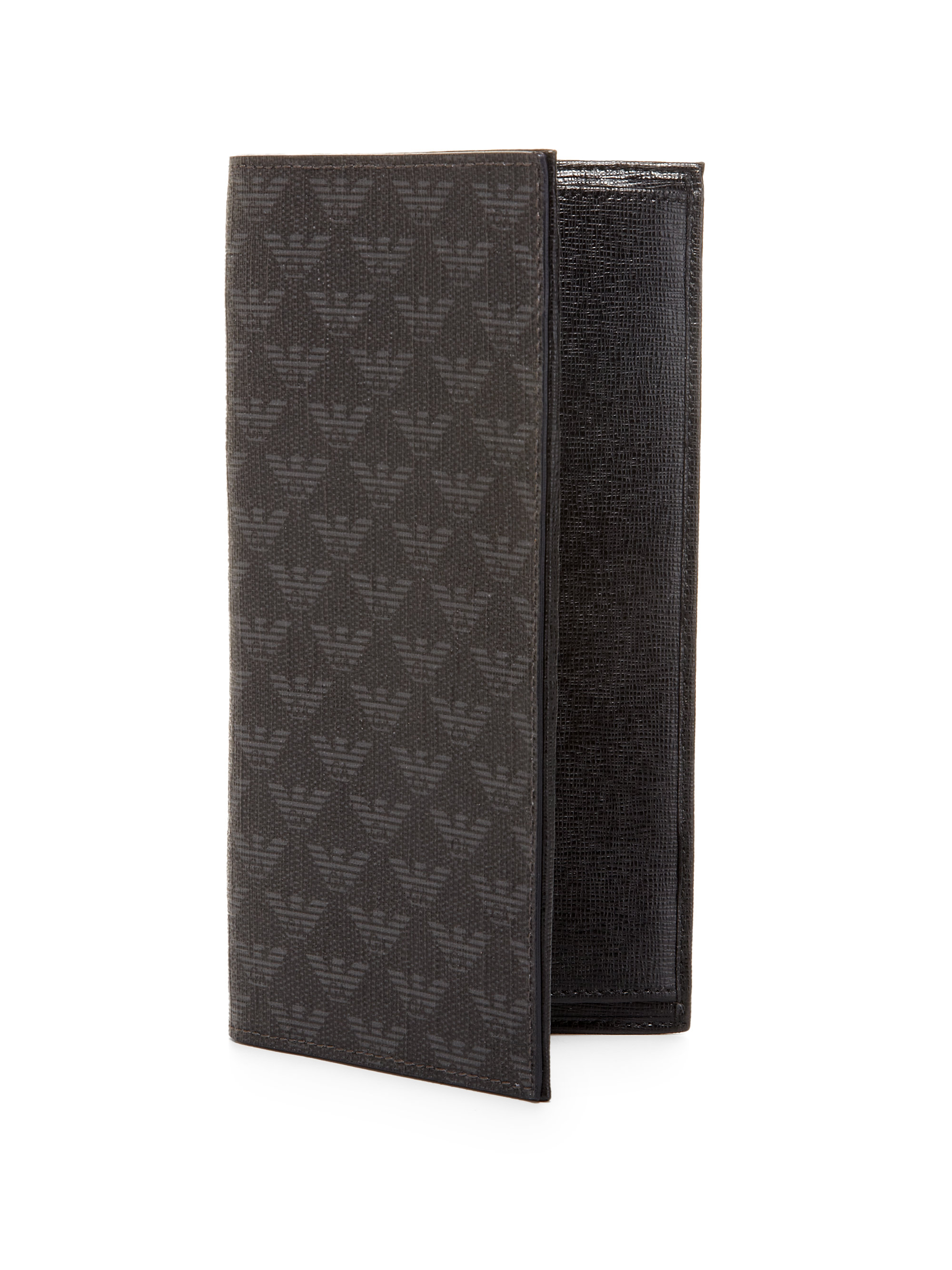 e7cf9aaa0 Lyst - Emporio Armani Long Leather Wallet in Gray for Men
