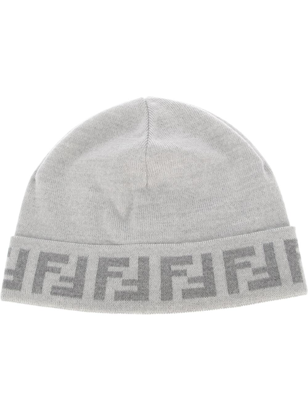 425040dd117 Lyst - Fendi Wool Beanie Hat in Gray