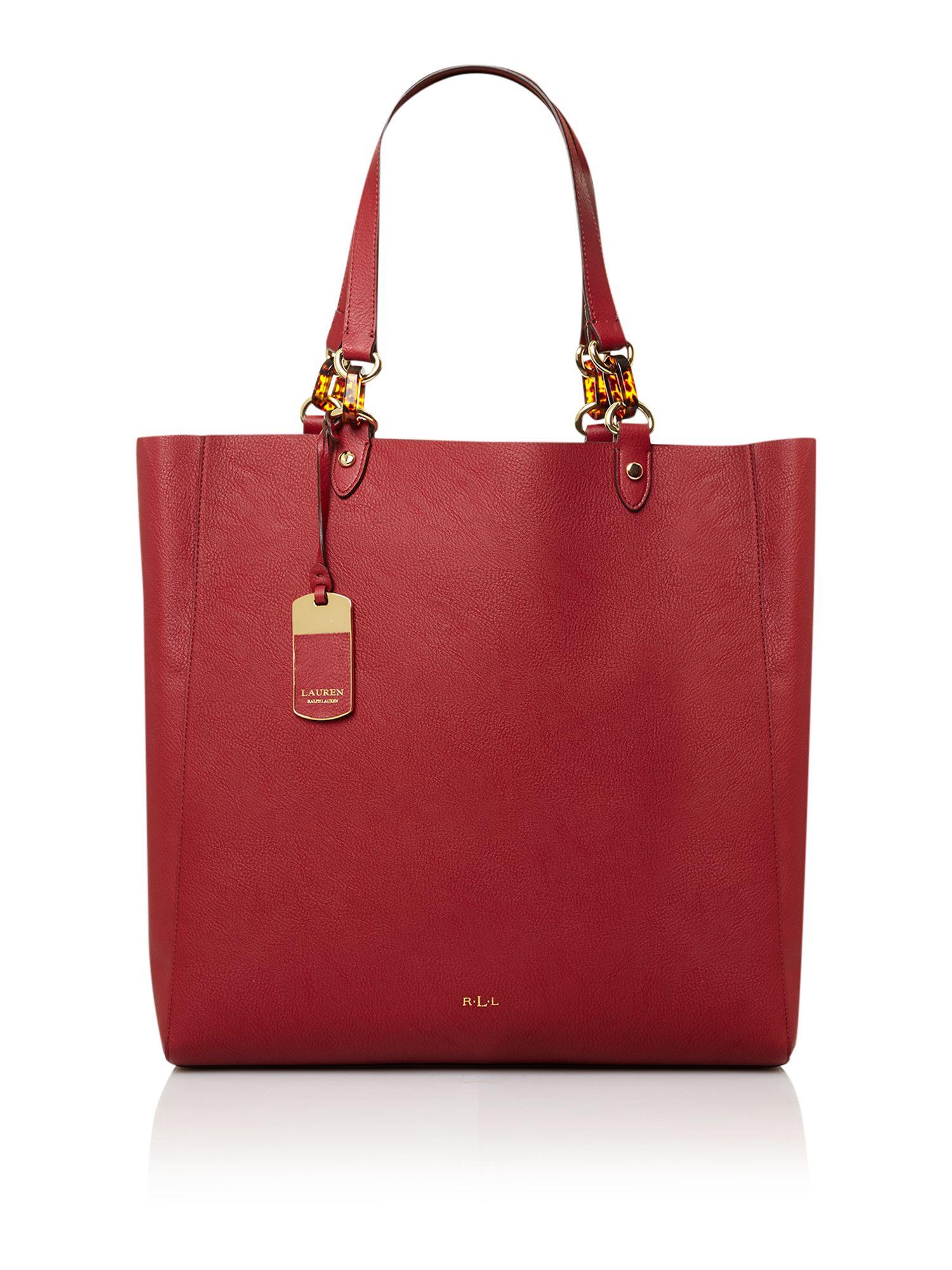 0b185d0cd567 ... discount code for lauren by ralph lauren bembridge red tote bag in red  lyst 7425c 61546