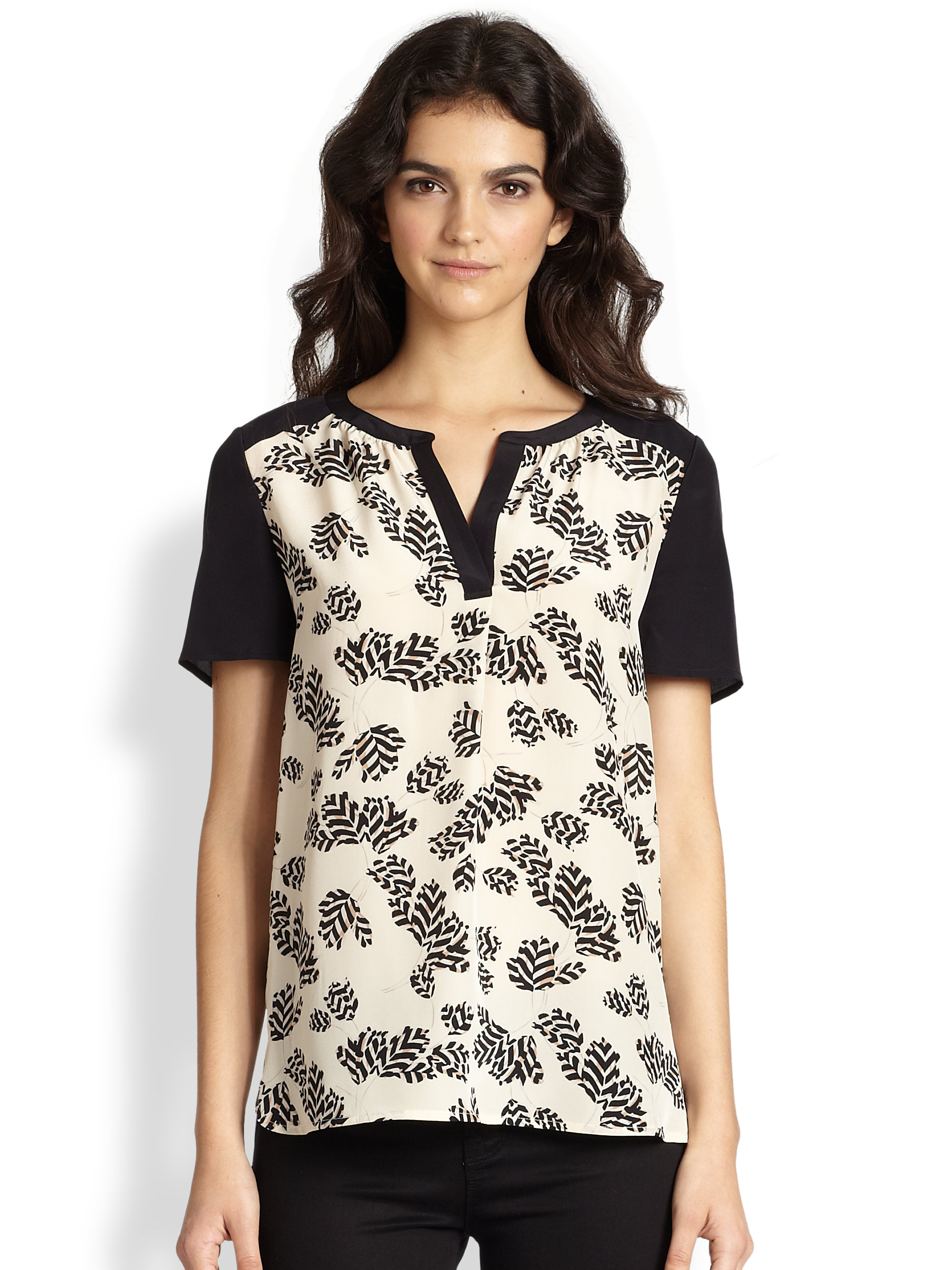 Marc By Marc Jacobs Rae Rae Tulip Silk Short Sleeve Shirt
