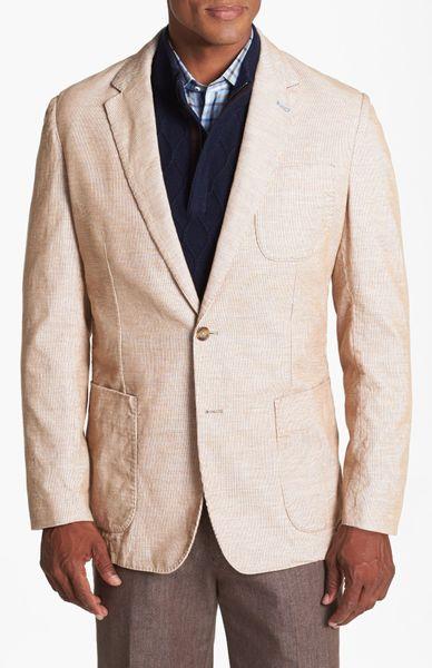 Peter Millar Unstructured Corduroy Sport Coat In Brown For