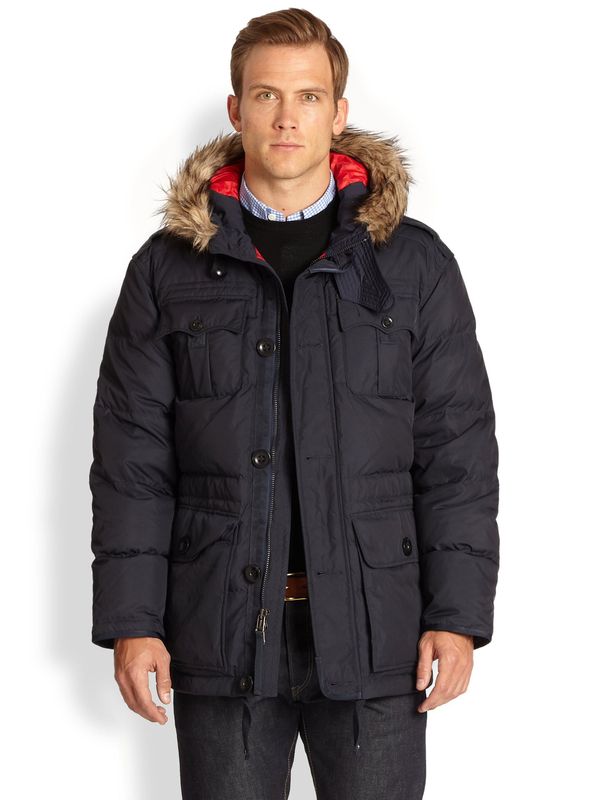 Polo Ralph Lauren Himal Fourpocket Down Parka in Black for ...