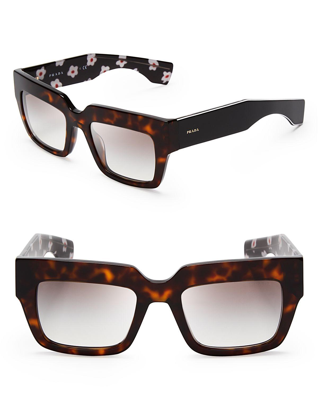 4044aca9f0 Prada Square Rimless Sunglasses