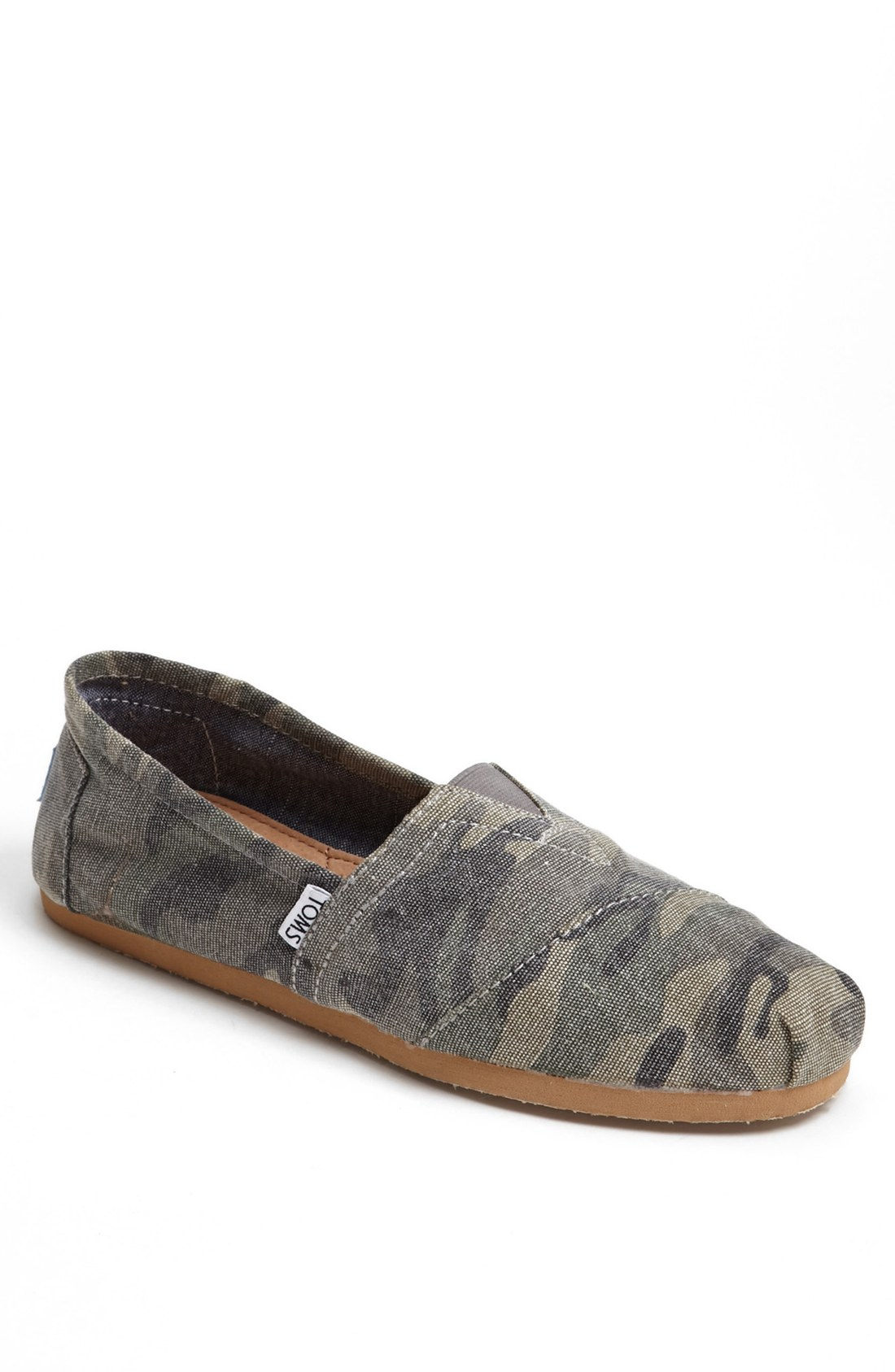 Toms Classic Slipon In Green For Men Camo Canvas Lyst