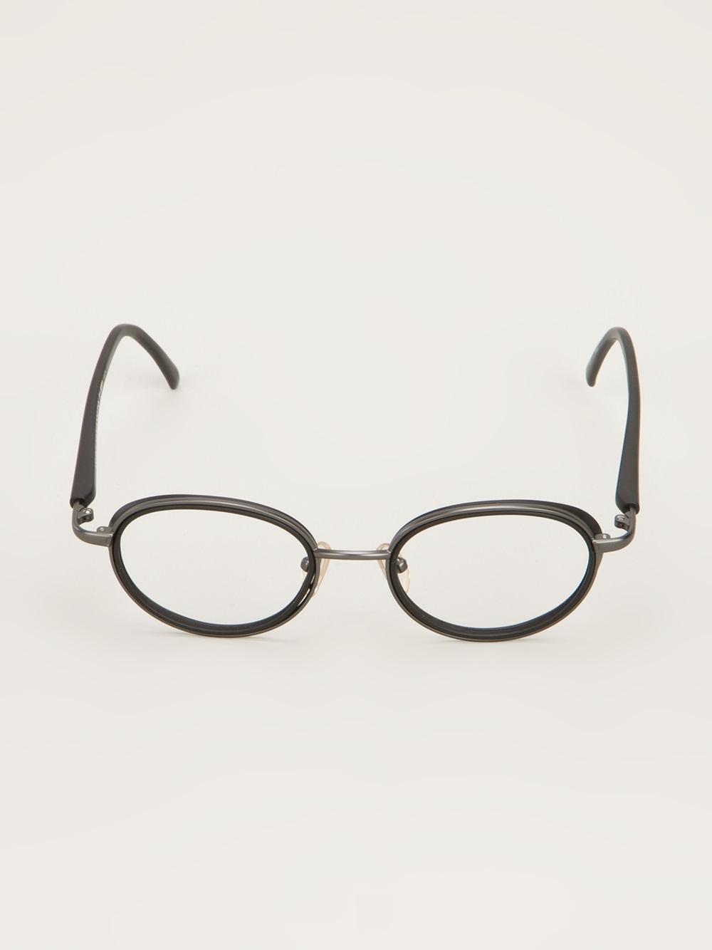 Black Frame Glasses Ragnarok : Yohji yamamoto Oval Frame Glasses in Black for Men Lyst