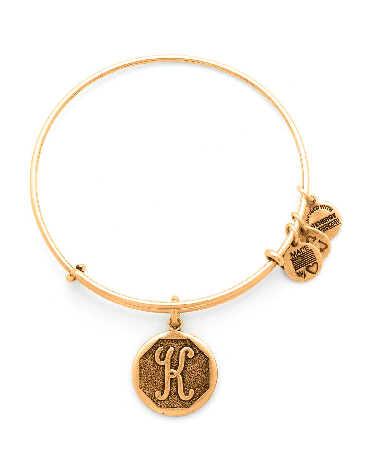 Alex And Ani Initial Bangle In Silver K Lyst