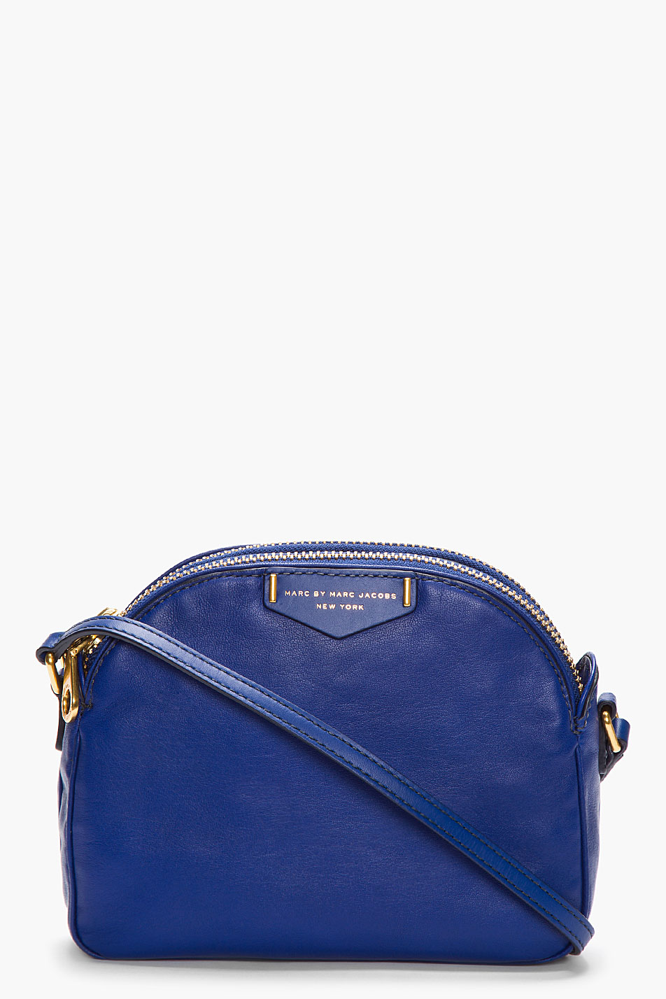 ... By Marc Jacobs Royal Blue Leather Downtown Lola Cross Body Bag in Blue
