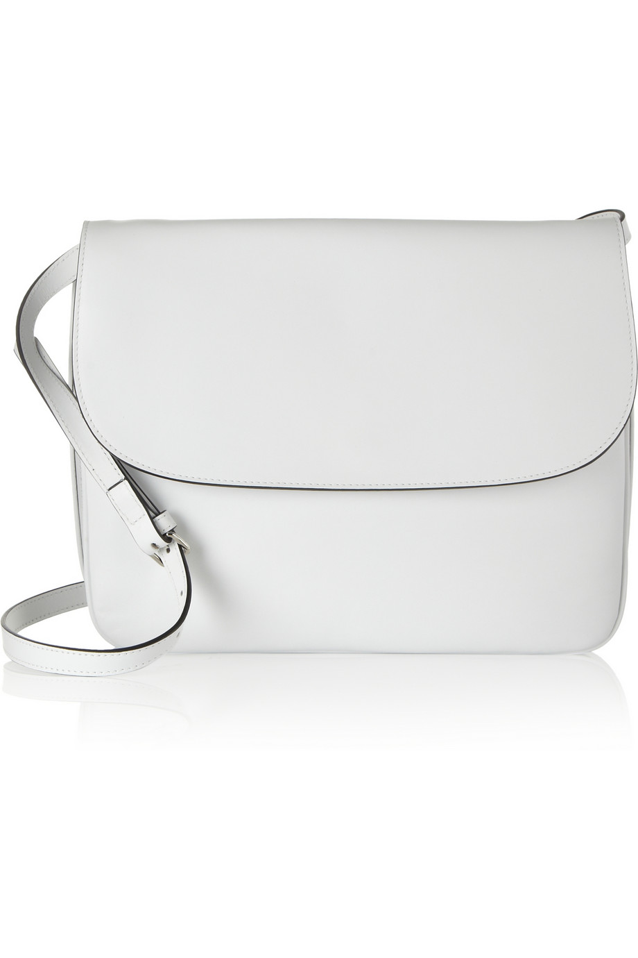 Marni Leather Shoulder Bag in White | Lyst