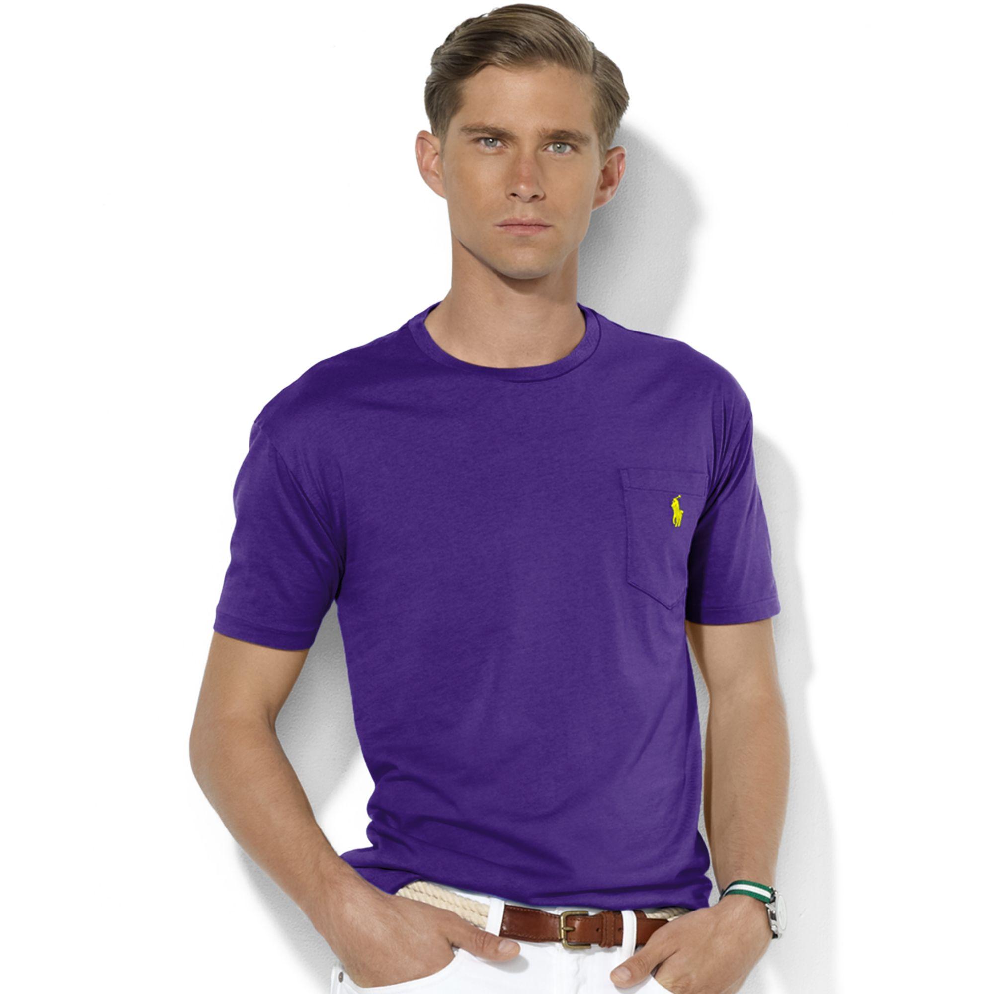 ralph lauren crew neck t shirts with pockets .