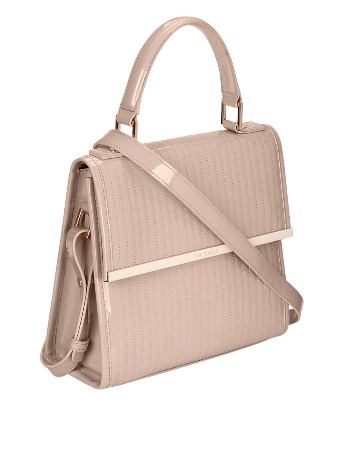 7982a2bddd Ted Baker Patent Quilted Mini Tote Bag in Pink (light_pink) | Lyst