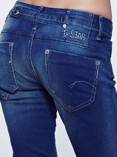 star raw gstar raw midge straight leg jeans medium aged in blue. Black Bedroom Furniture Sets. Home Design Ideas