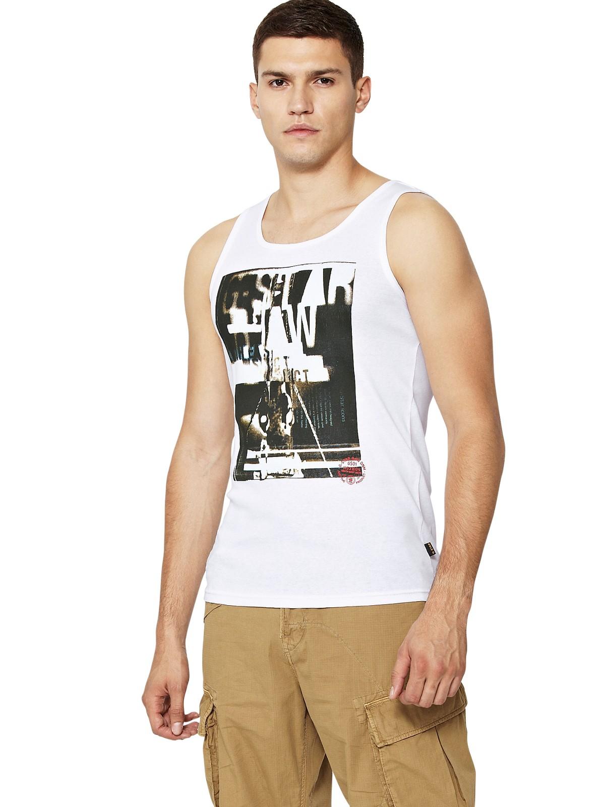 g gstar mens corbin slim fit vest in white