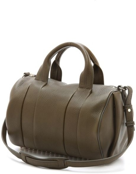 alexander wang rocco dumbo slick duffel bag in green lyst. Black Bedroom Furniture Sets. Home Design Ideas