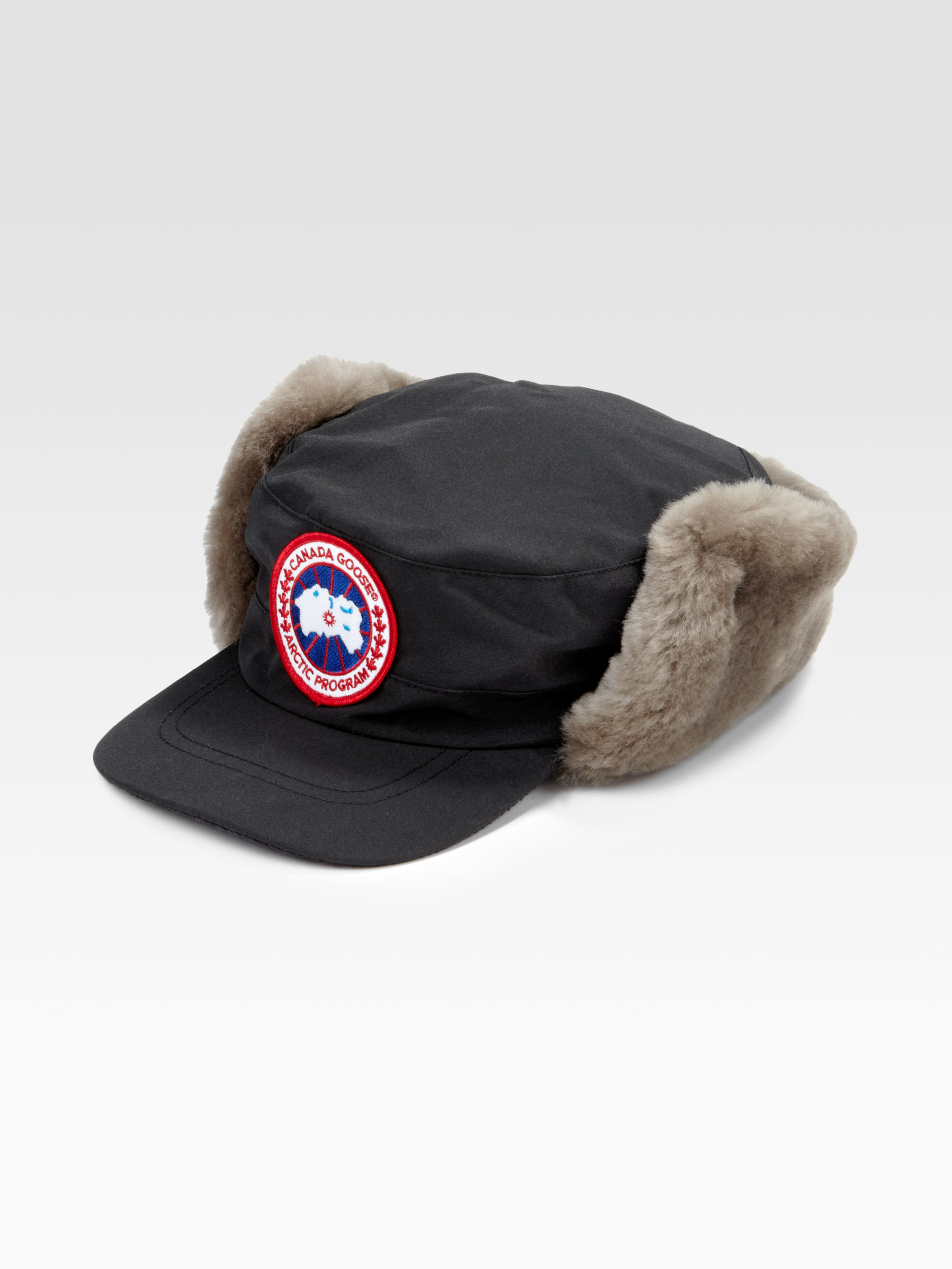 9d1661f3b98 Lyst Canada Goose Clique Shearling Hat In Brown For Men