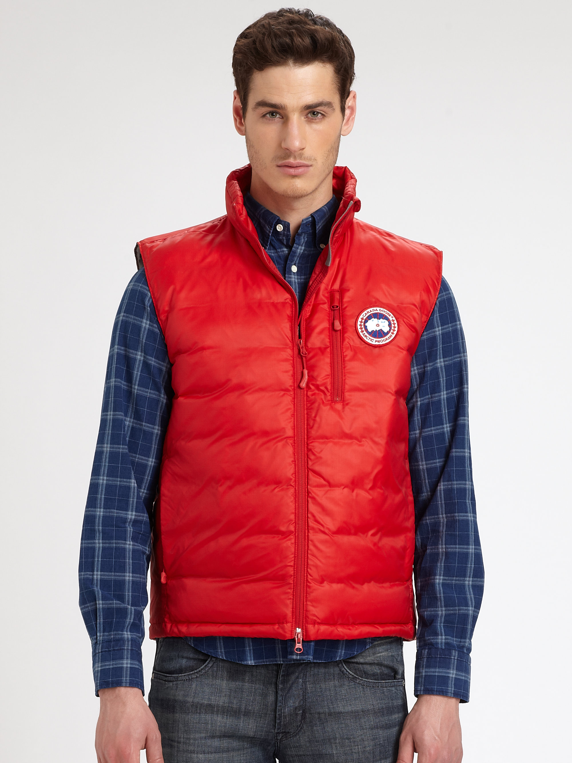 Canada Goose Lodge Vest In Red For Men Lyst