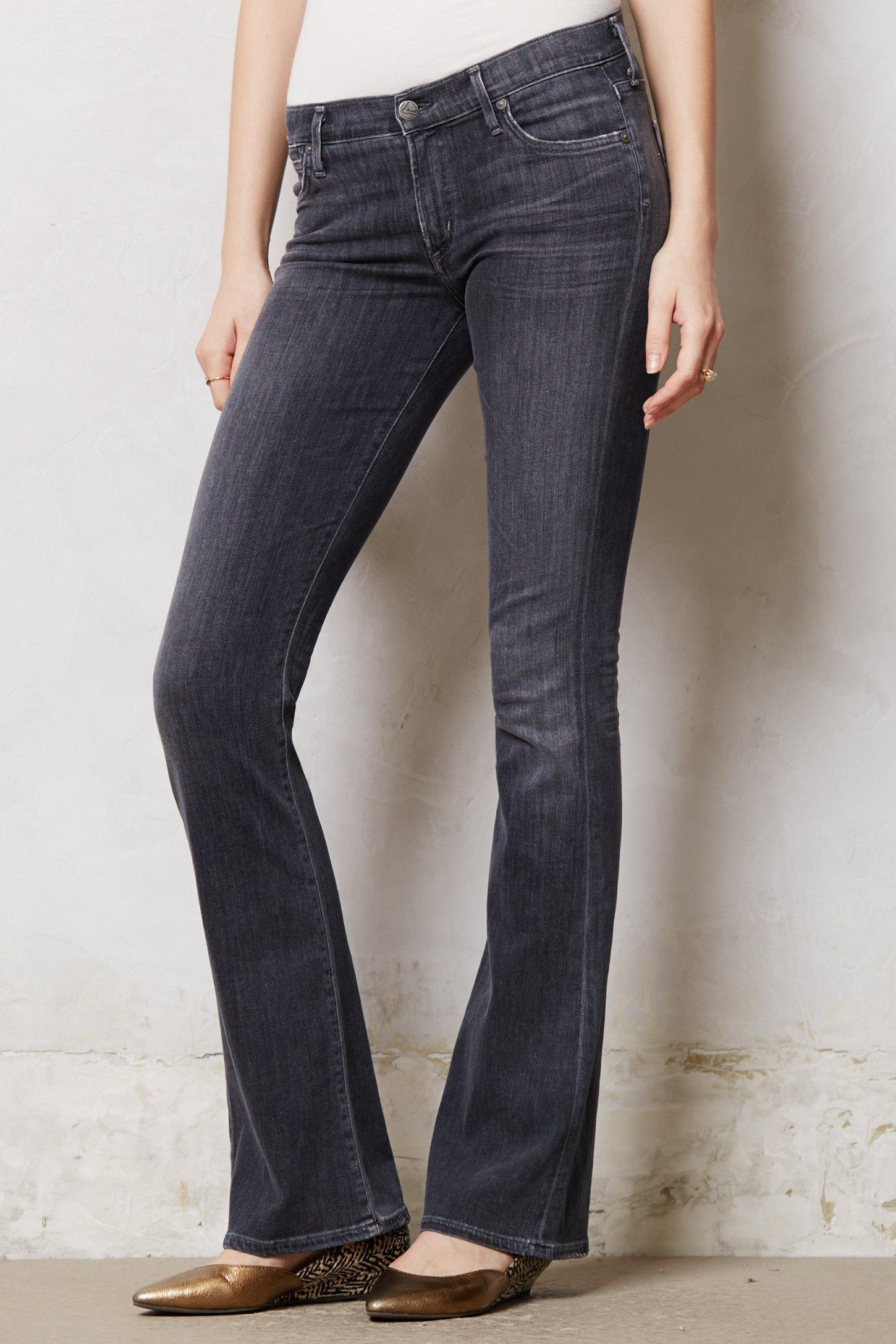gray bootcut jeans - Jean Yu Beauty