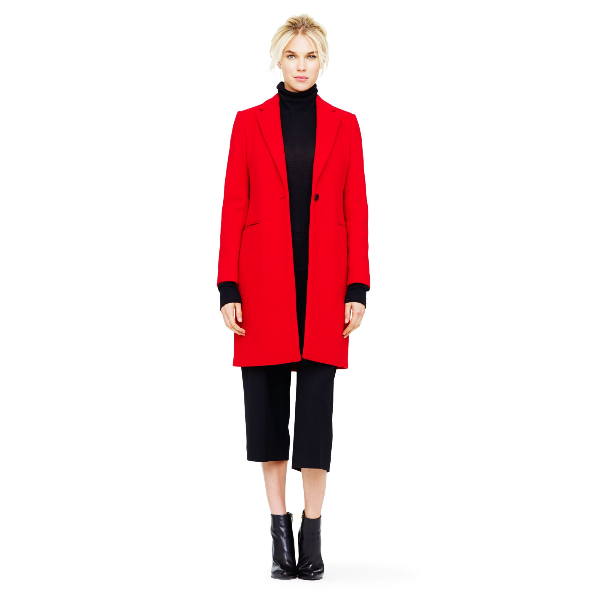 Club monaco Selina Double-face Wool Coat in Red   Lyst
