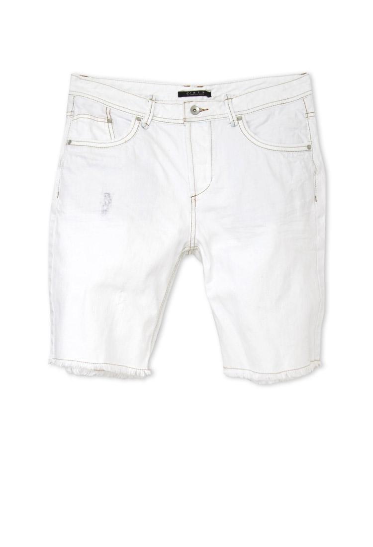 Forever 21 Distressed Denim Shorts in White for Men | Lyst