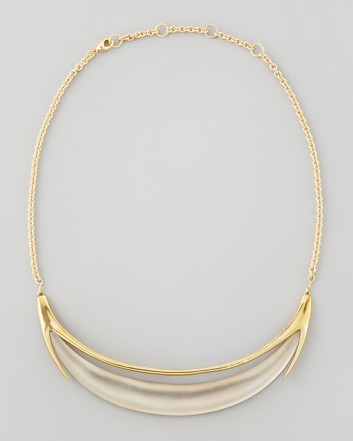 Alexis bittar neo boho minimalist crescent lucite necklace for Women s minimalist jewelry