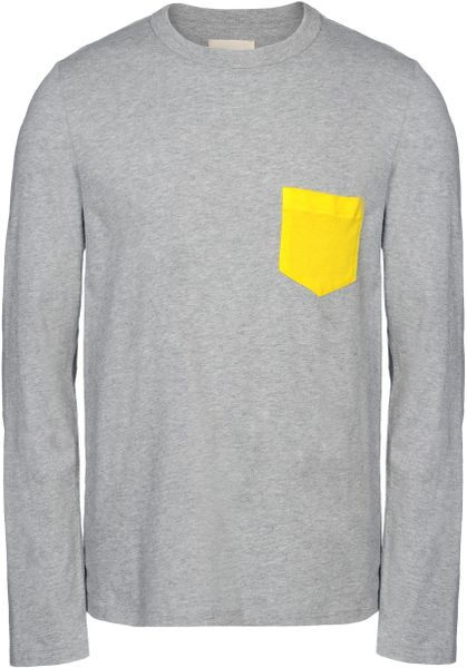 Band Of Outsiders Long Sleeve T Shirt In Gray For Men