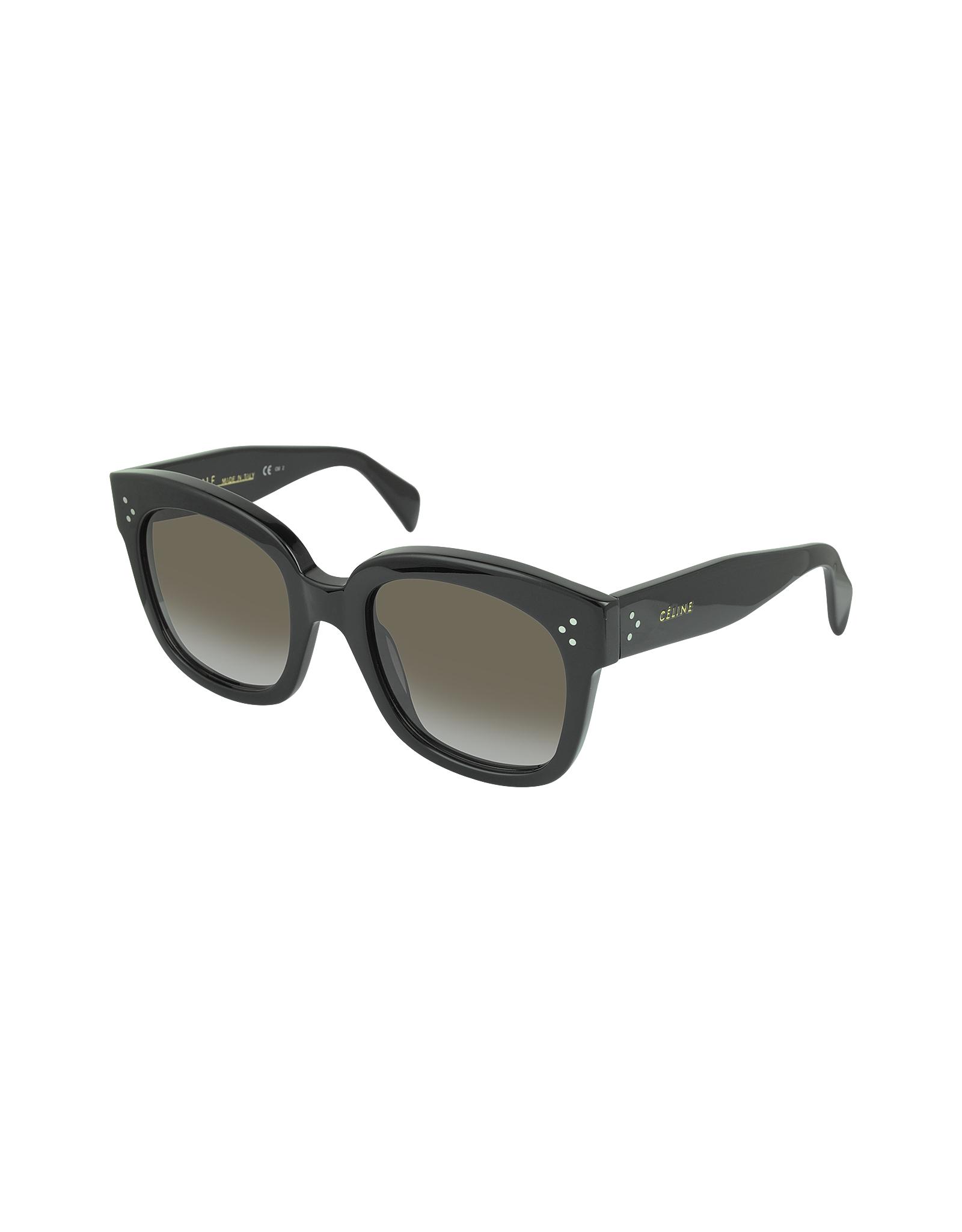 eadce28da02 Lyst - C Line Cl41805 s New Audrey Black Acetate Sunglasses in Black
