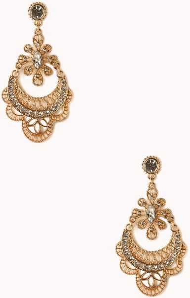 Indian jewellery design 2016 gold filigree earrings for Forever 21 jewelry earrings