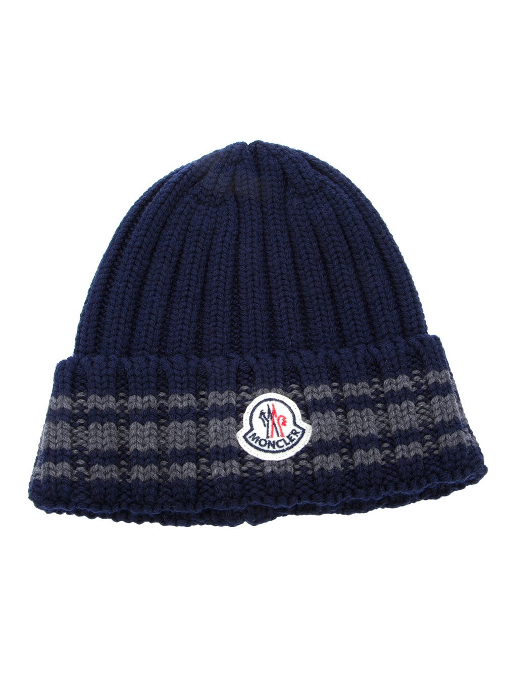 3b9507a9243 Lyst - Moncler Moncler Chunky Knit Hat in Blue for Men