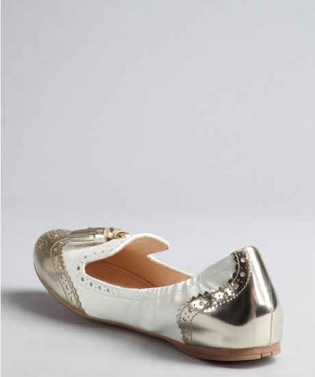2a1959f7430 White And Gold: White And Gold Loafers