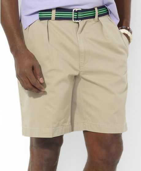 Ralph Lauren Vintage Chino Pleated Tyler Shorts in Brown for Men (hudson tan)