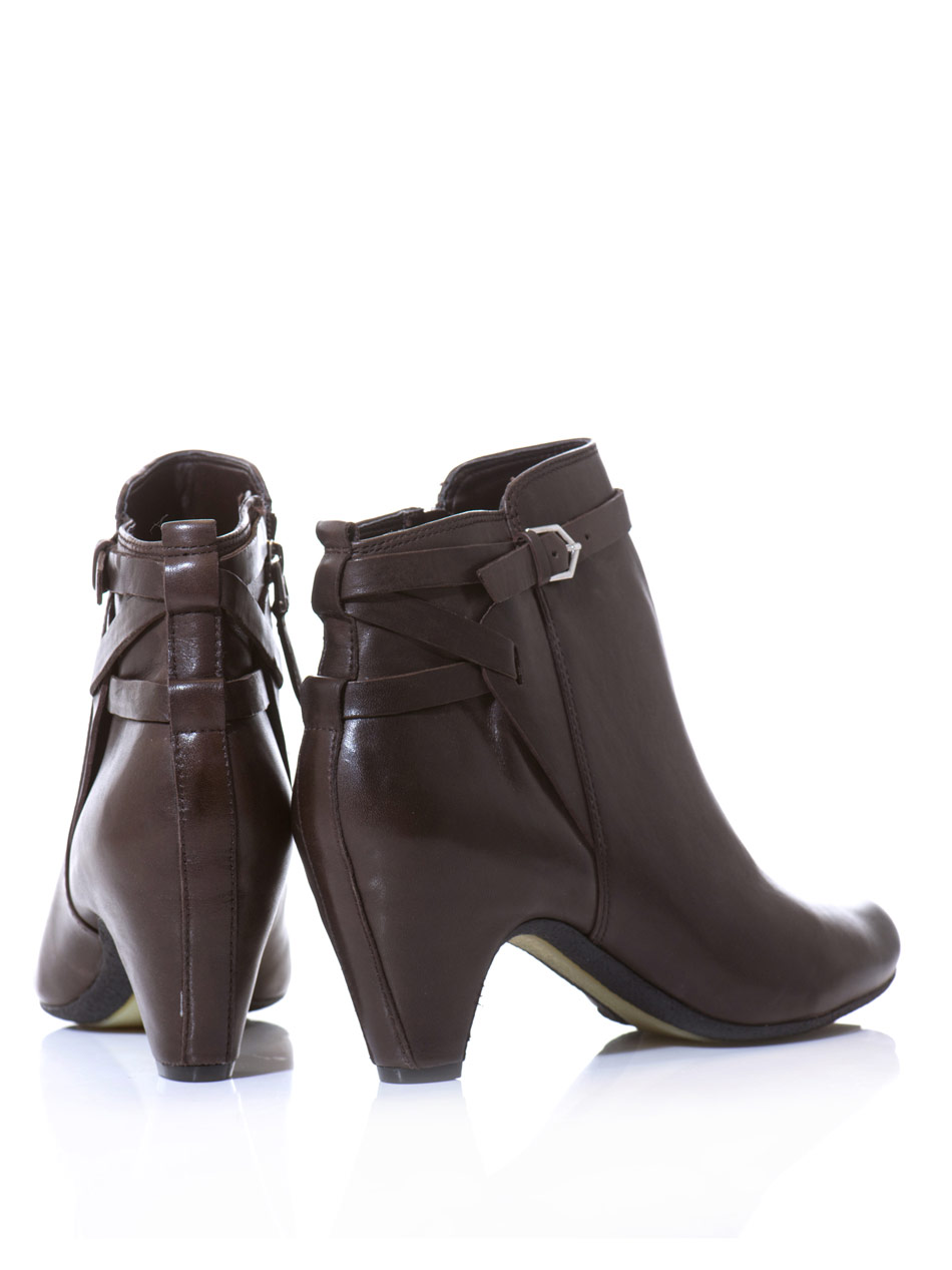 d8b3d052fd95 Lyst - Sam Edelman Maddox Leather Ankle Boots in Brown