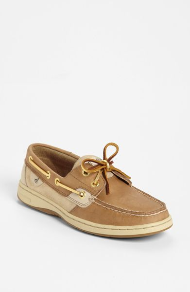Sperry top sider blue fish 2eye boat shoe in beige for men for Best boat shoes for fishing