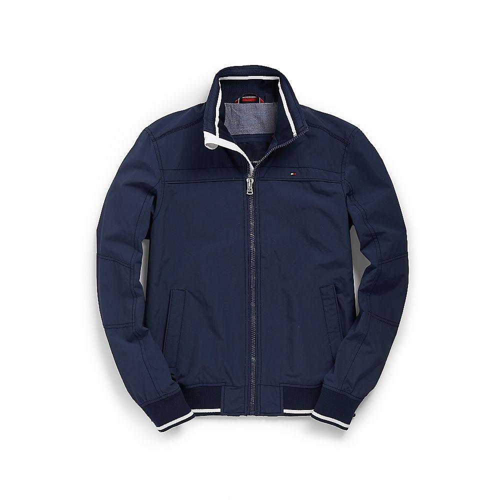 tommy hilfiger nylon bomber jacket in blue for men delhi. Black Bedroom Furniture Sets. Home Design Ideas