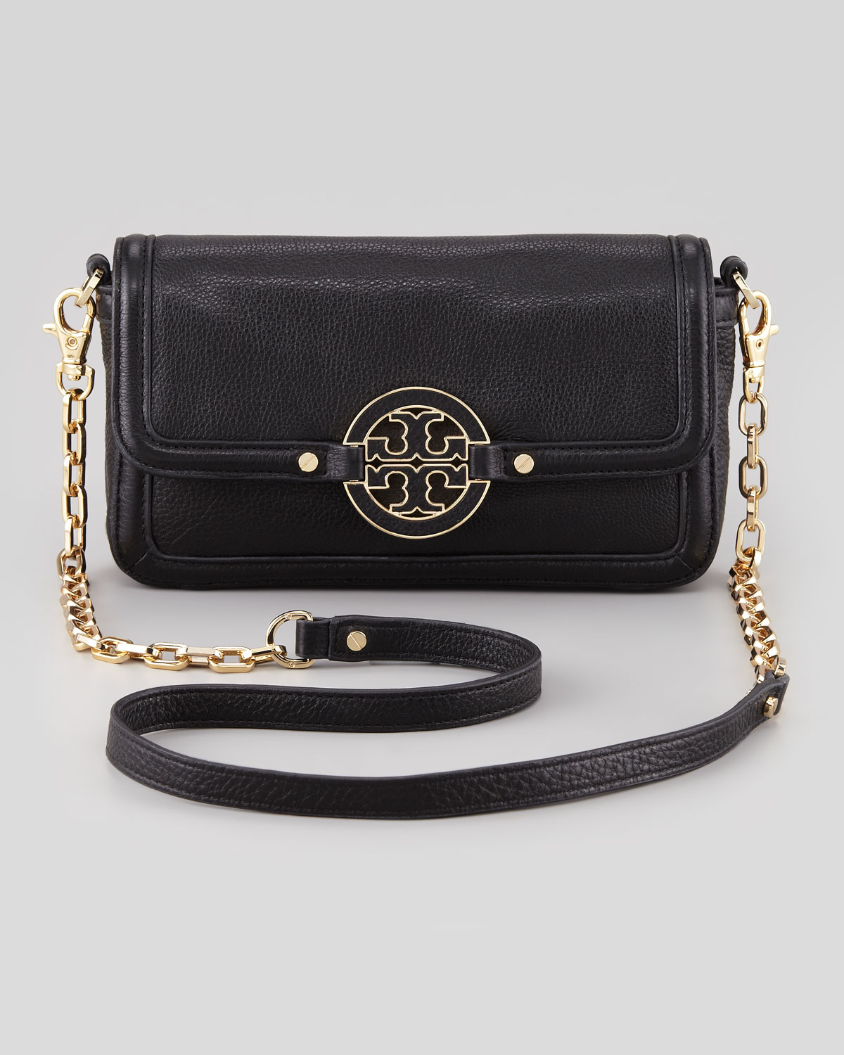 6aa8e52a08b Lyst - Tory Burch Amanda Chain Strap Mini Crossbody Bag Black in Black