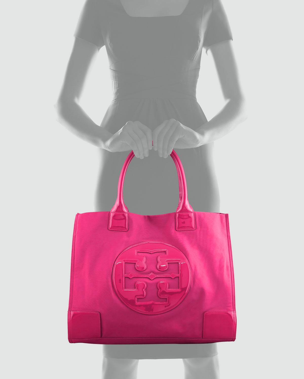 d214273bb Tory Burch Ella Logo Tote in Pink - Lyst