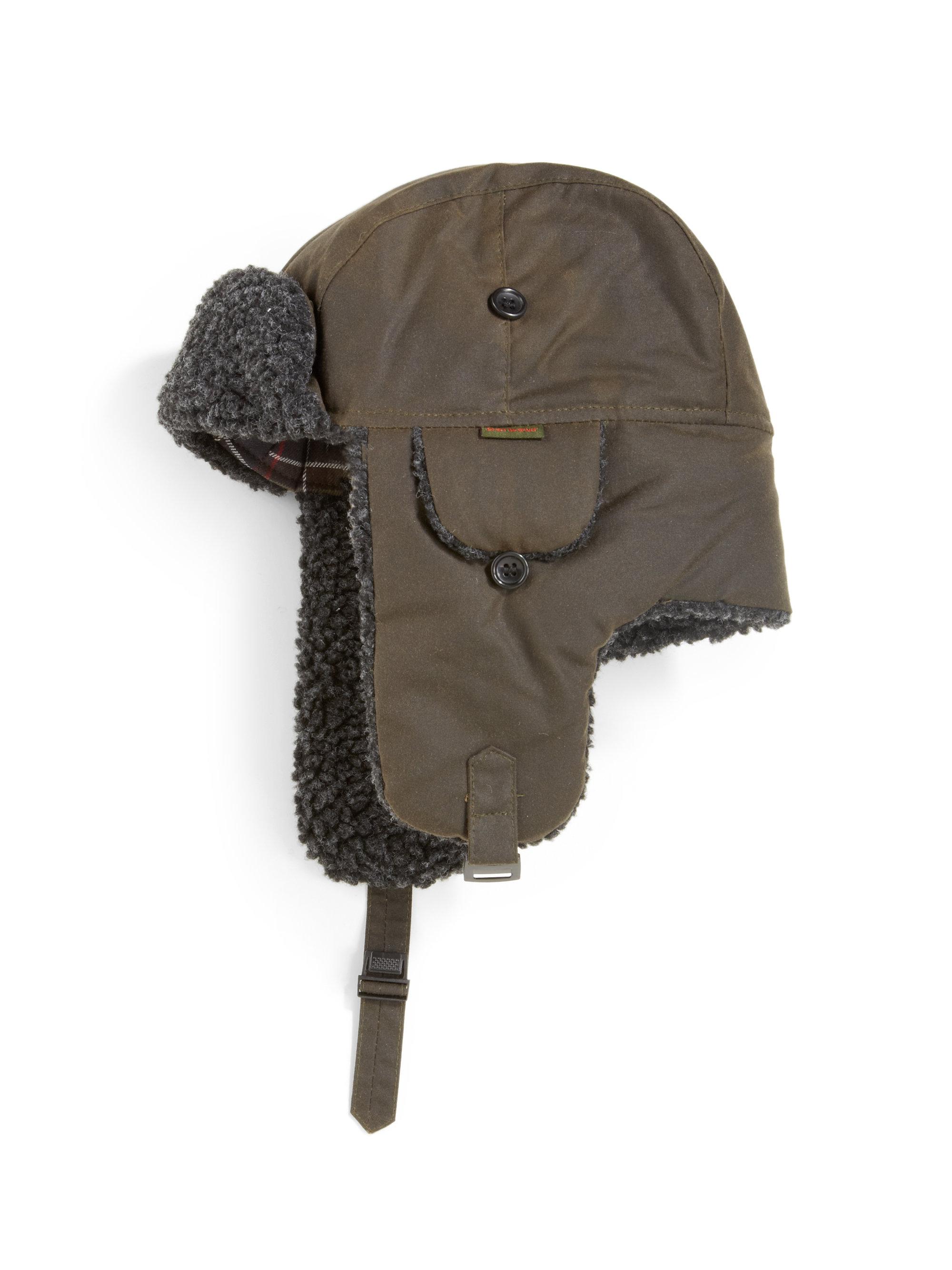 6c4bafce5e43 Barbour Fleecelined Cotton Trapper Hat in Brown for Men - Lyst