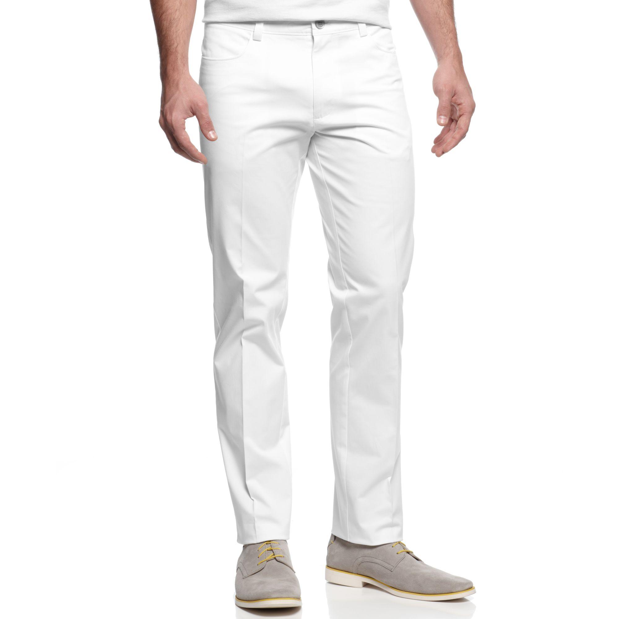 Lyst Calvin Klein Slim Fit Sateen Pants In White For Men