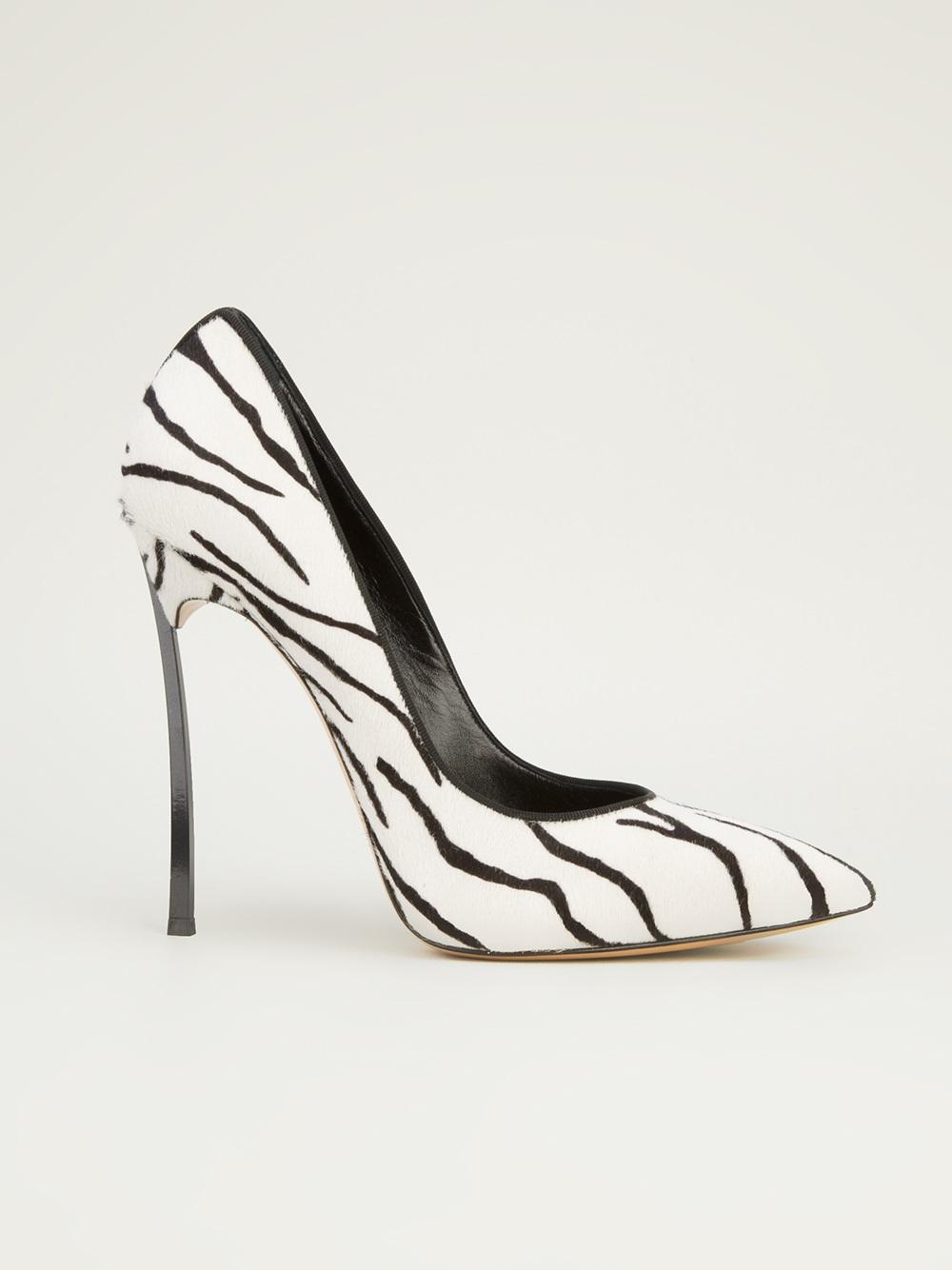 Lyst Casadei Casadei Zebra Print Pumps In White