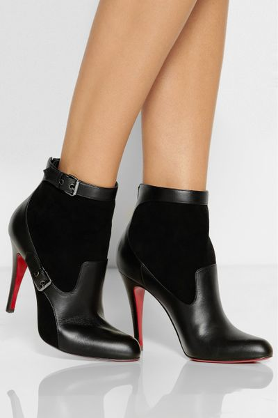 christian louboutin canassone 100 buckled suede and