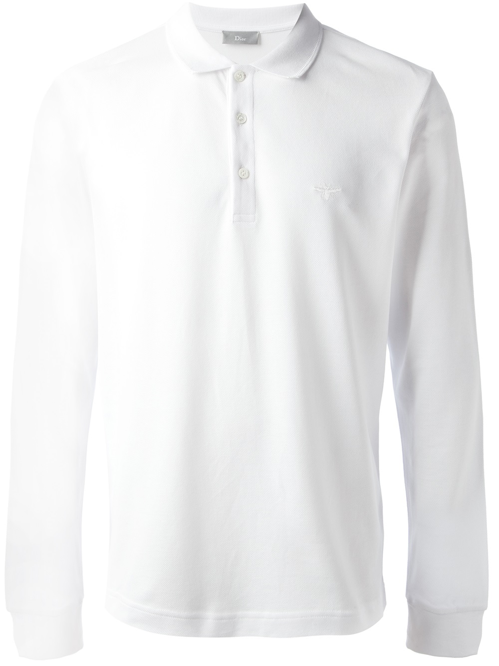 dfd765dd Dior Homme Long Sleeve Polo Shirt in White for Men - Lyst
