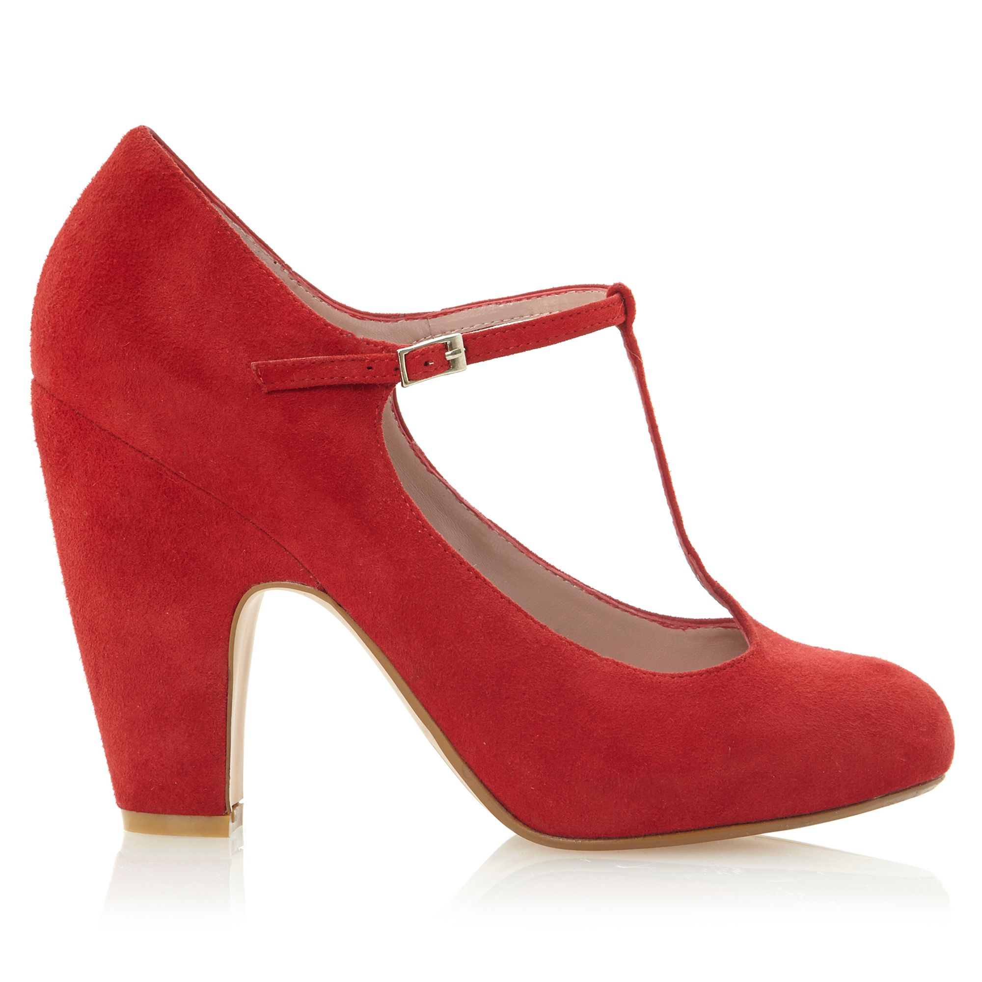 Dune Red T Bar Shoes