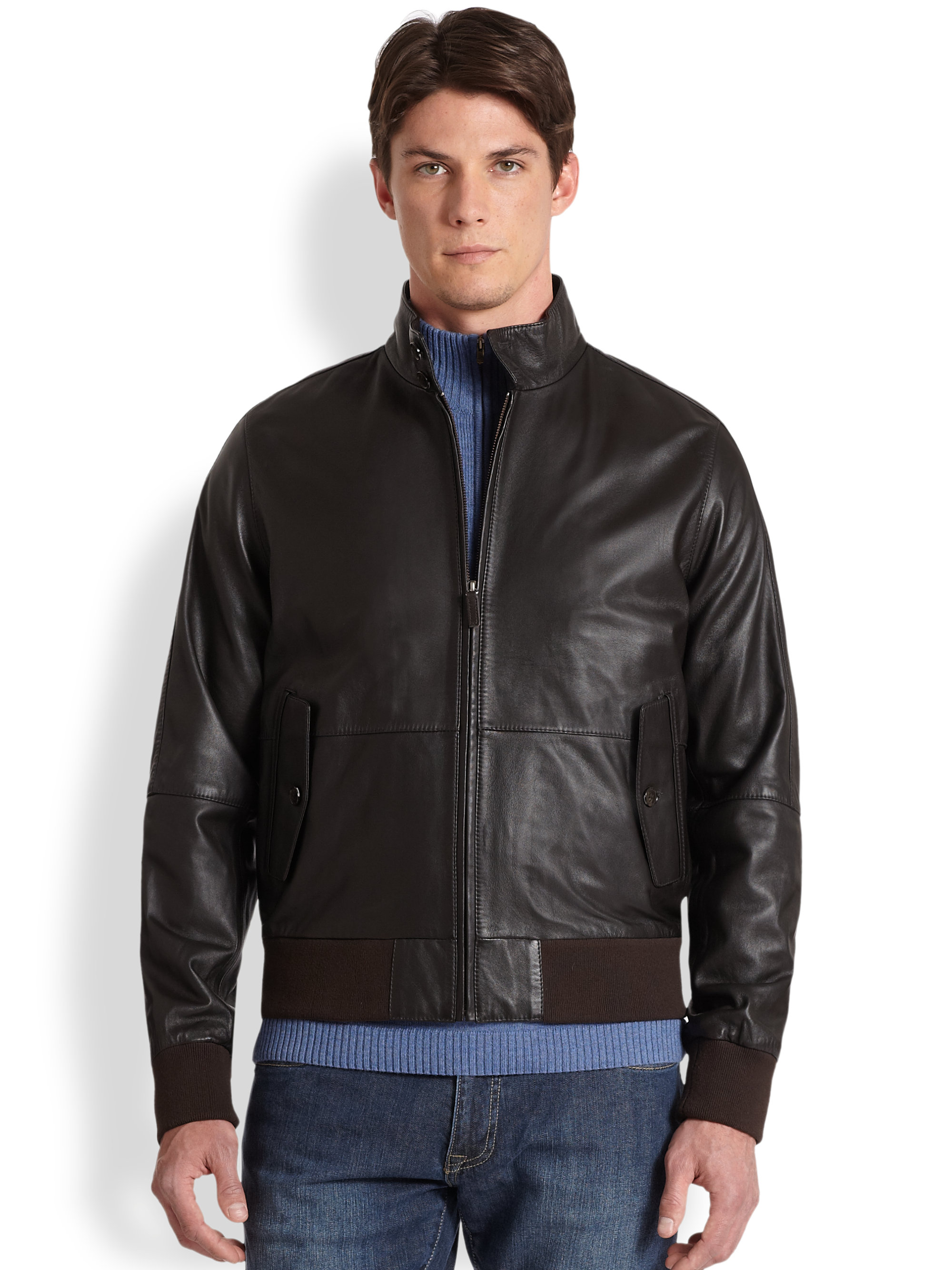 Similiar Men's Leather Bombers Jackets Browns Keywords