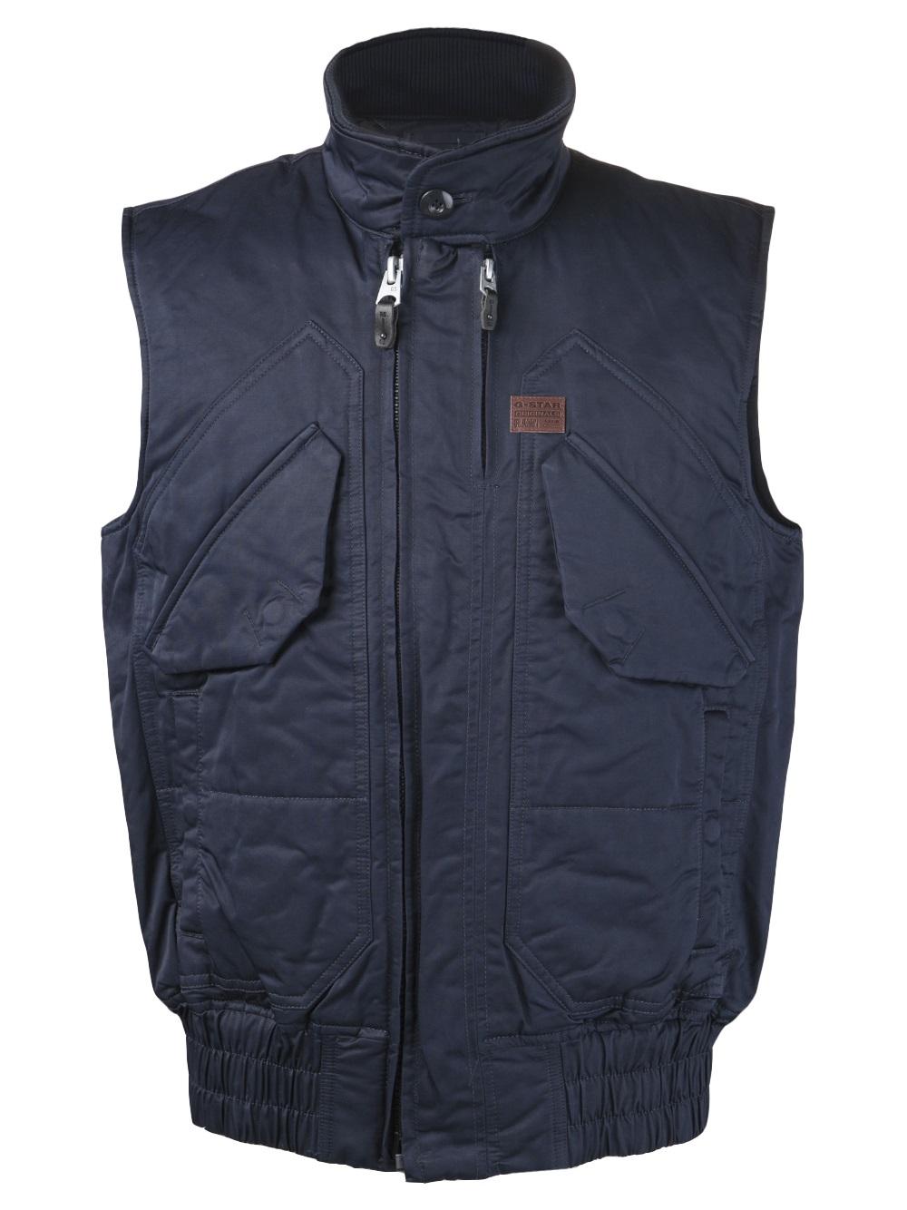 g star raw gstar atlas vest in blue for men lyst. Black Bedroom Furniture Sets. Home Design Ideas